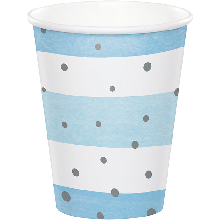 Blue Silver Celebration Hot/Cold Cups 9Oz. 8ct by Creative Converting