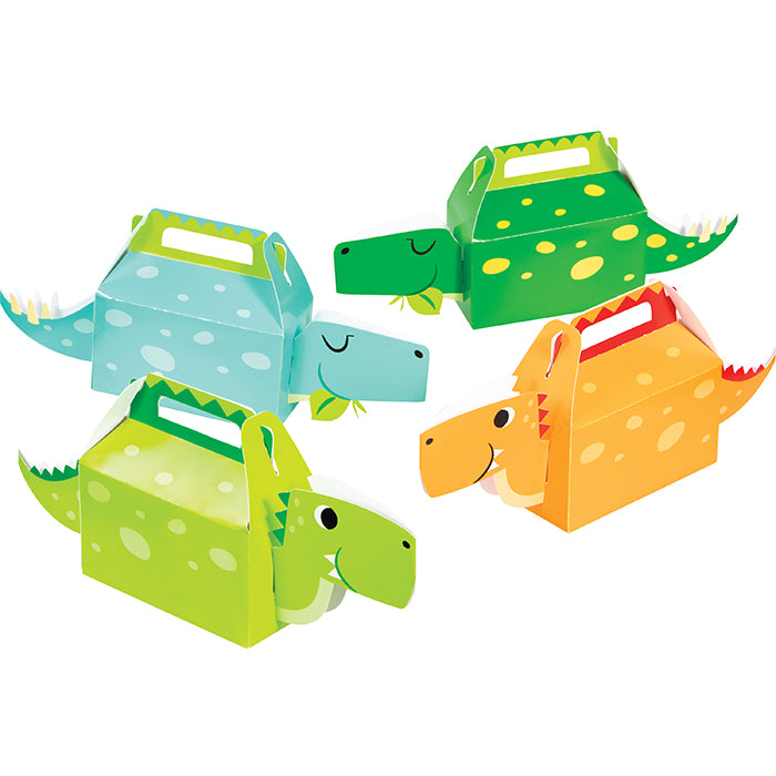 Boy Dino Party Treat Box 3D 4ct by Creative Converting