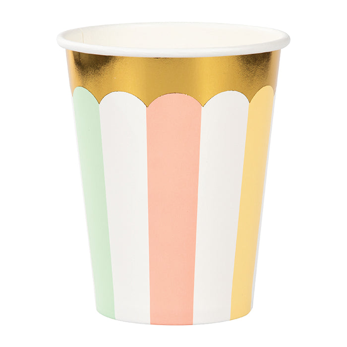 Pastel Celebrations Hot/Cold Cups 9Oz., Foil 8ct by Creative Converting