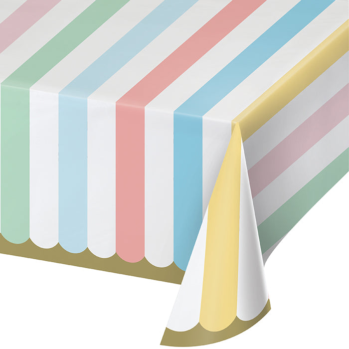 "Pastel Celebrations Paper Tablecover 54"" X 102"" by Creative Converting"