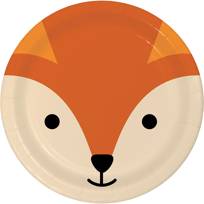 Animal Faces Dinner Plate, Fox 8ct by Creative Converting