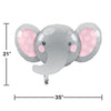 Enchanting Elephants Girl Metallic Balloon Party Decoration