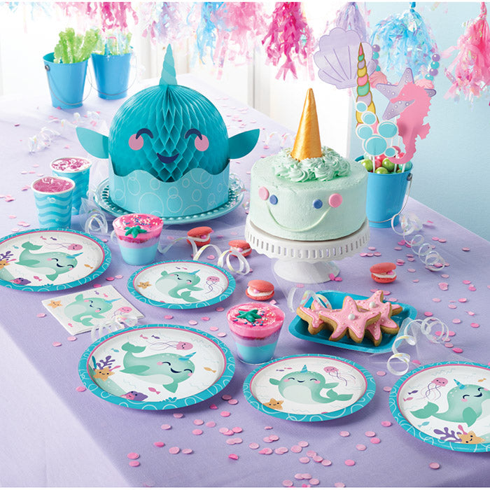 Narwhal Party Lunch Napkins 16 Pack Narwhal Birthday Party Decorations