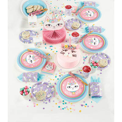 Sassy Caticorn Luncheon Plate 8ct Party Supplies