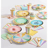 Pastel Celebrations Luncheon Napkin, Scallop Shaped, Foil 16ct Party Supplies