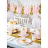 Pink Gold Celebration Dinner Plate, Foil, Stripes 8ct Party Supplies