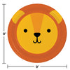 Animal Faces Dinner Plate, Lion 8ct Party Decoration