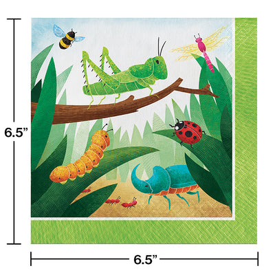 Birthday Bugs Luncheon Napkin 16ct Party Decoration