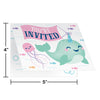 Narwhal Party Invitation Foldover 8ct Party Decoration