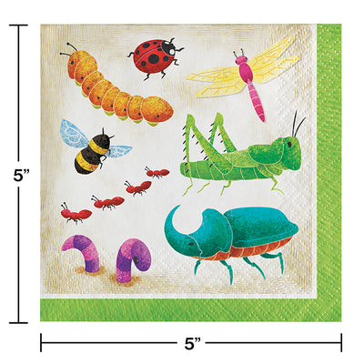 Birthday Bugs Beverage Napkins 16ct Party Decoration