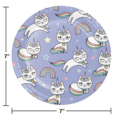 Sassy Caticorn Luncheon Plate 8ct Party Decoration