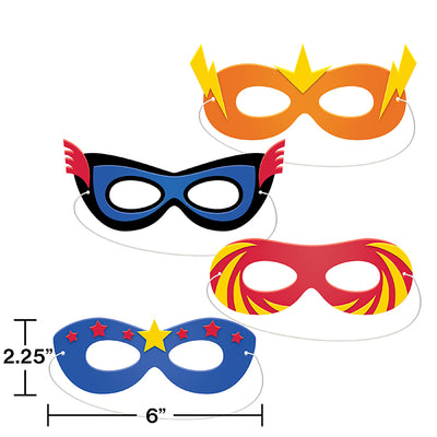Superhero Party Foam Masks 4ct Party Decoration