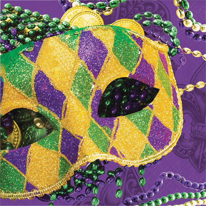 Masks Of Mardi Gras Napkins, 16 ct by Creative Converting