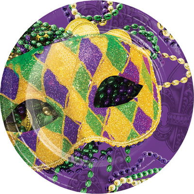 Masks Of Mardi Gras Paper Plates, 8 ct by Creative Converting