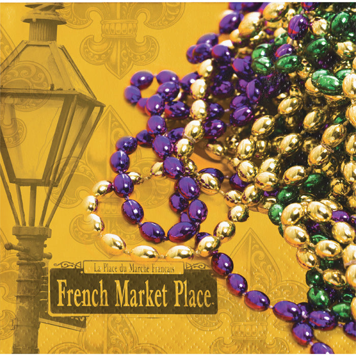 Masks Of Mardi Gras Beverage Napkins, 16 ct by Creative Converting