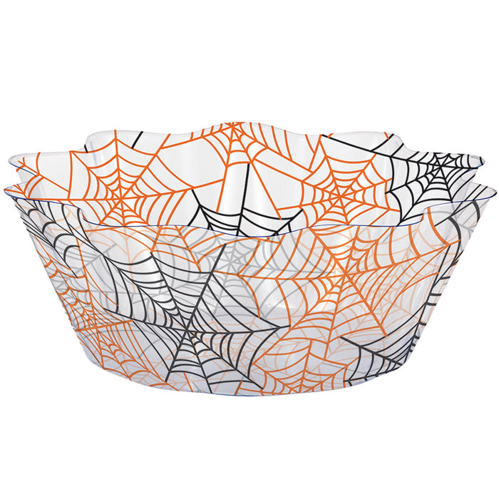 Spiderwebs 8 Inch Fluted Bowl by Creative Converting