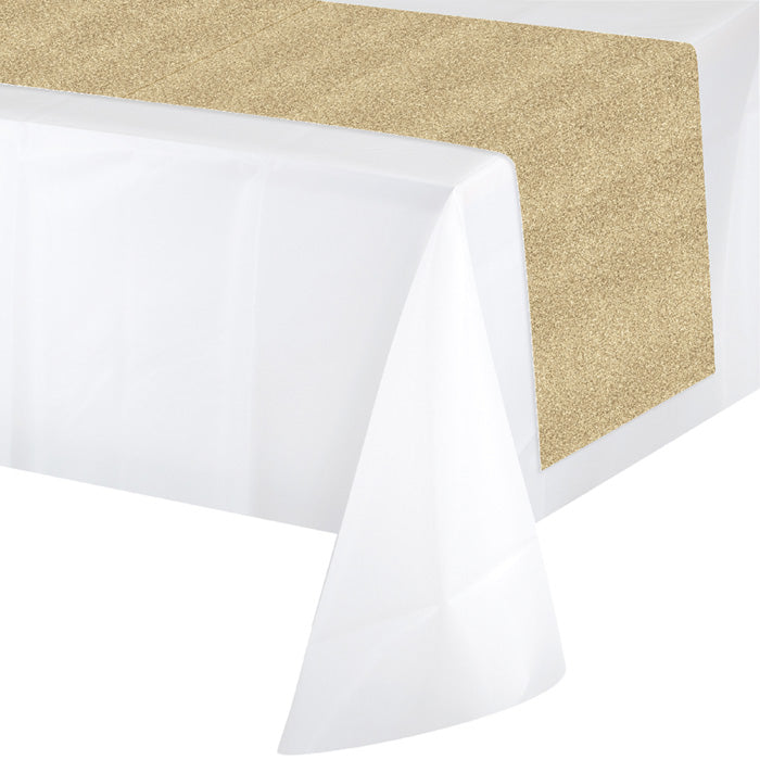 Gold Glitter Table Runner by Creative Converting