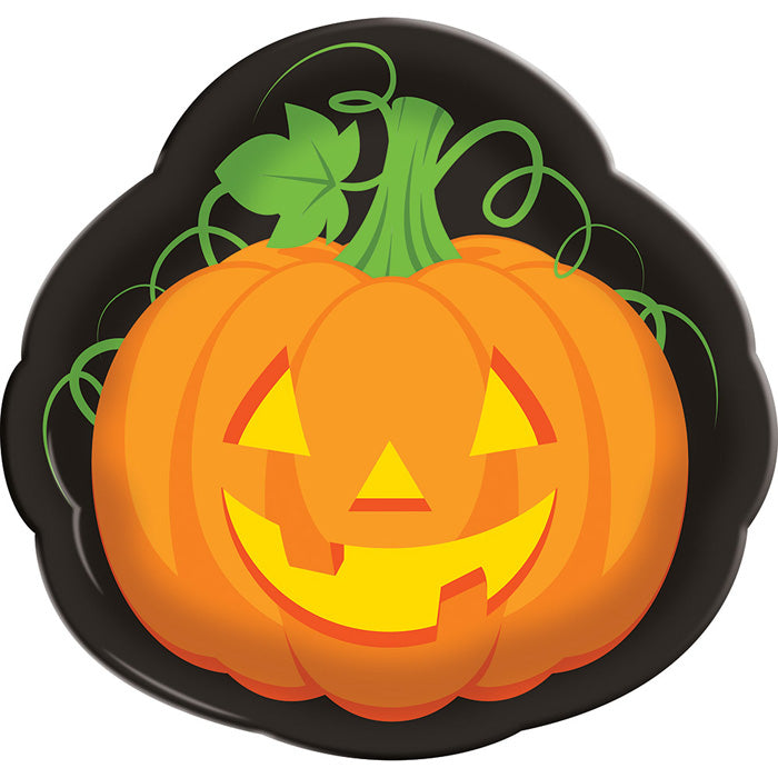 "Halloween Plastic Tray 14"" Pumpkin by Creative Converting"