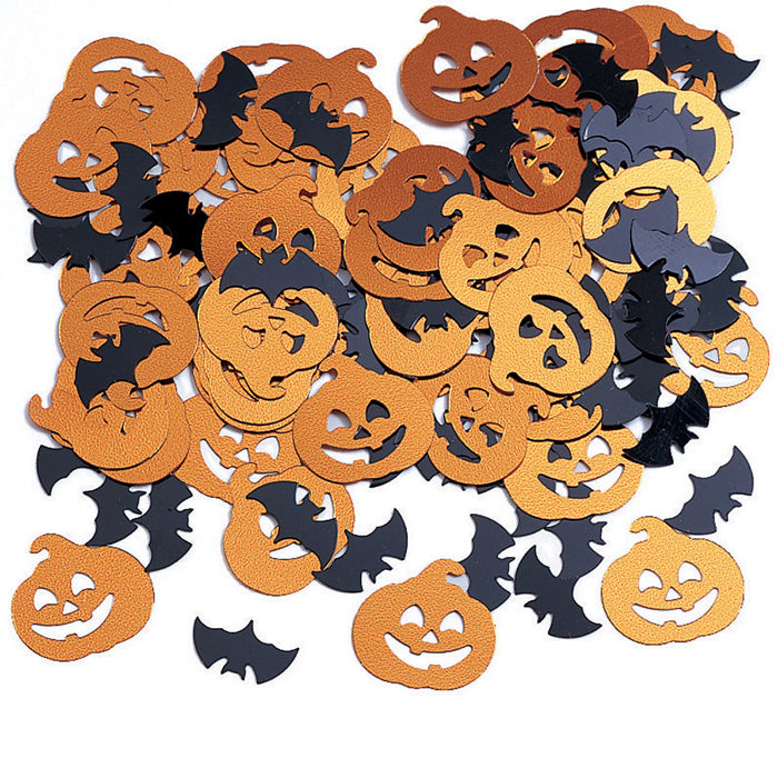 Bats And Pumpkin Confetti, 0.5 oz by Creative Converting