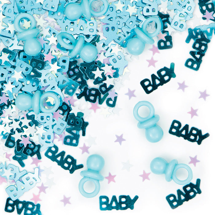 It's A Boy Pacifier Confetti, 0.5 oz by Creative Converting