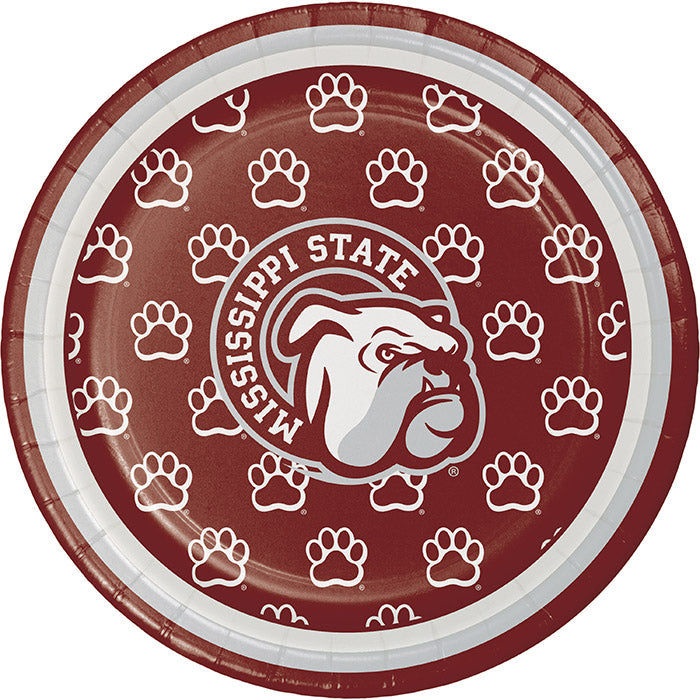 Mississippi State University Dessert Plates, 8 ct by Creative Converting