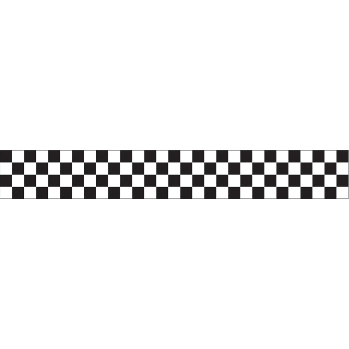 Black And White Check Streamer by Creative Converting