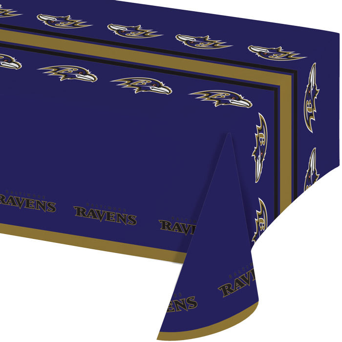 "Baltimore Ravens Plastic Tablecloth, 54"" X 108"" by Creative Converting"