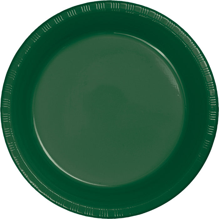 Hunter Green Plastic Dessert Plates, 20 ct by Creative Converting