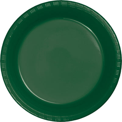 Hunter Green Plastic Banquet Plates, 20 ct by Creative Converting