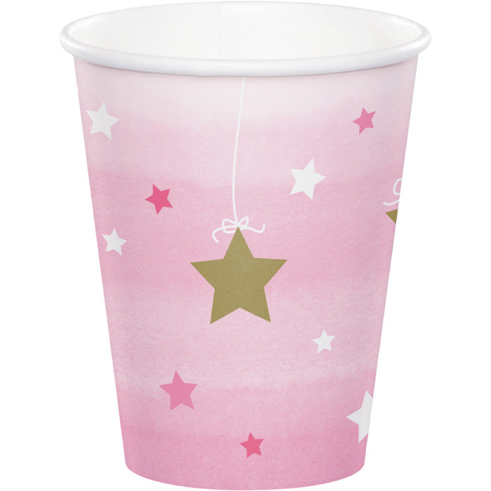One Little Star - Girl Hot/Cold Paper Paper Cups 9 Oz., 8 ct by Creative Converting