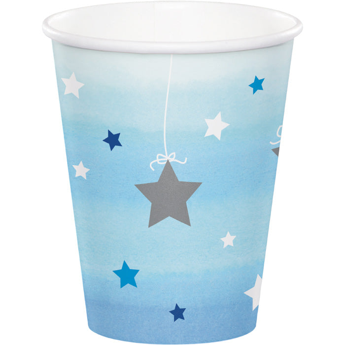 One Little Star - Boy Hot/Cold Paper Paper Cups 9 Oz., 8 ct by Creative Converting