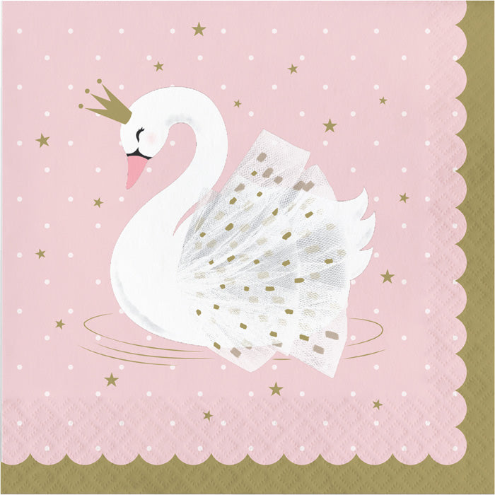 Stylish Swan Napkins, Pack Of 16 by Creative Converting