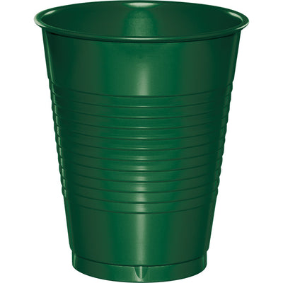 Hunter Green Plastic Cups, 20 ct by Creative Converting