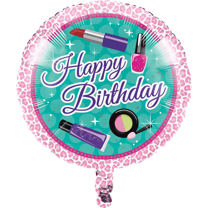 "Sparkle Spa Party! Metallic Balloon 18"" by Creative Converting"