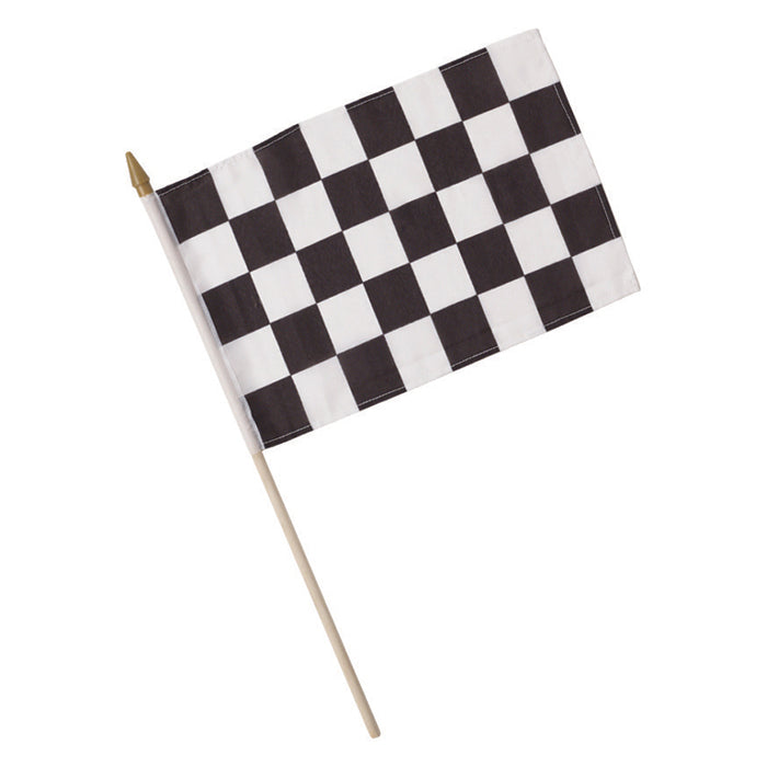 "Black And White Check Cloth Racing Flag, 8"" X 12"" by Creative Converting"