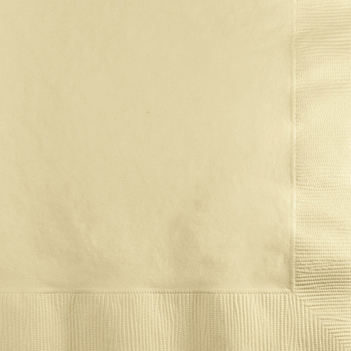 Ivory Beverage Napkin, 3 Ply, 50 ct by Creative Converting