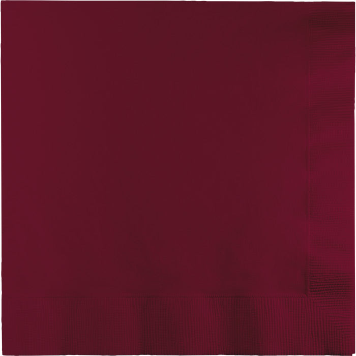 Burgundy Luncheon Napkin 2Ply, 50 ct by Creative Converting