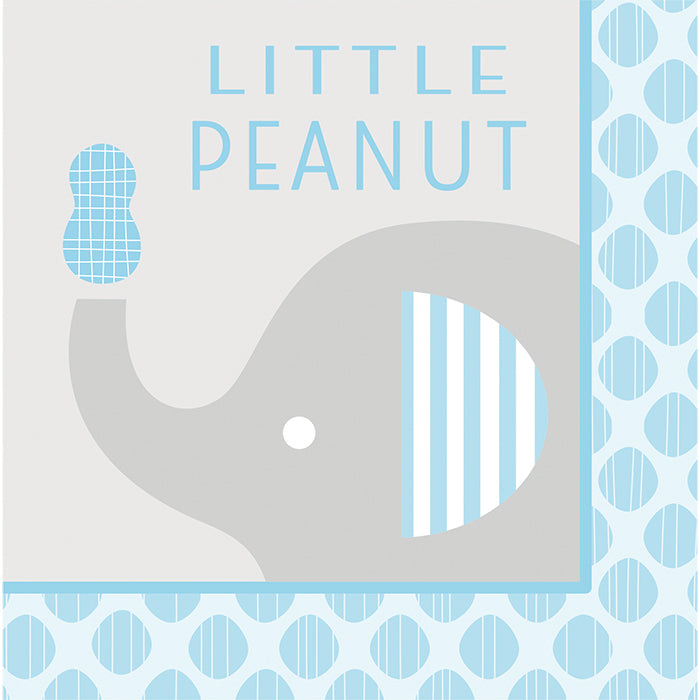 """Little Peanut"" Boy Elephant Napkins, 16 ct by Creative Converting"