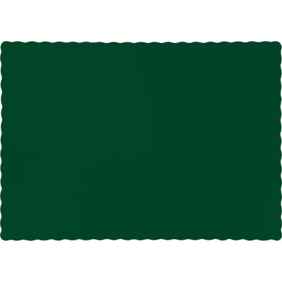 Hunter Green Placemats, 50 ct by Creative Converting