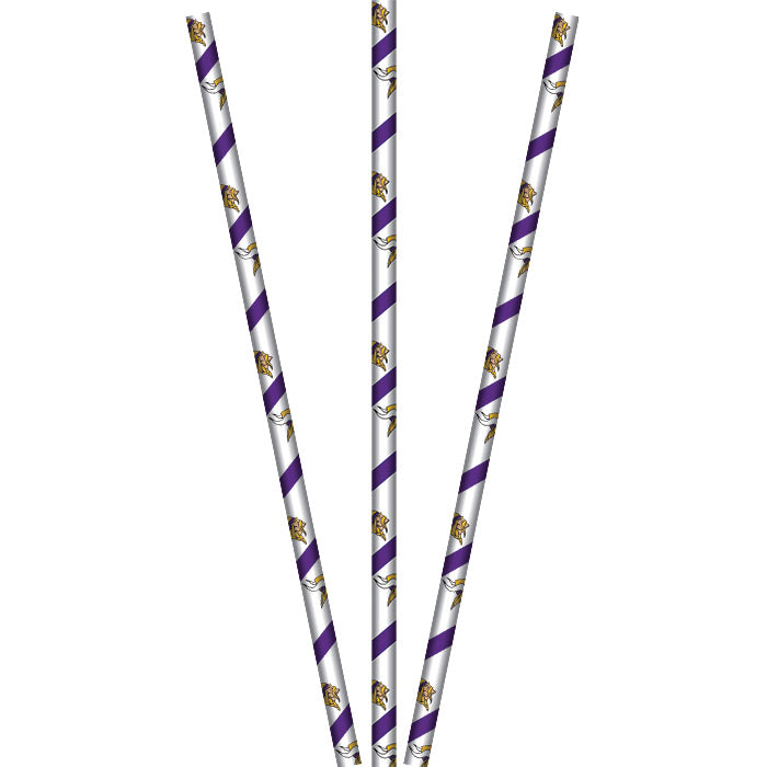 Minnesota Vikings Paper Straws, 24 ct by Creative Converting