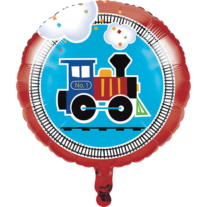 "All Aboard Metallic Balloon 18"" by Creative Converting"
