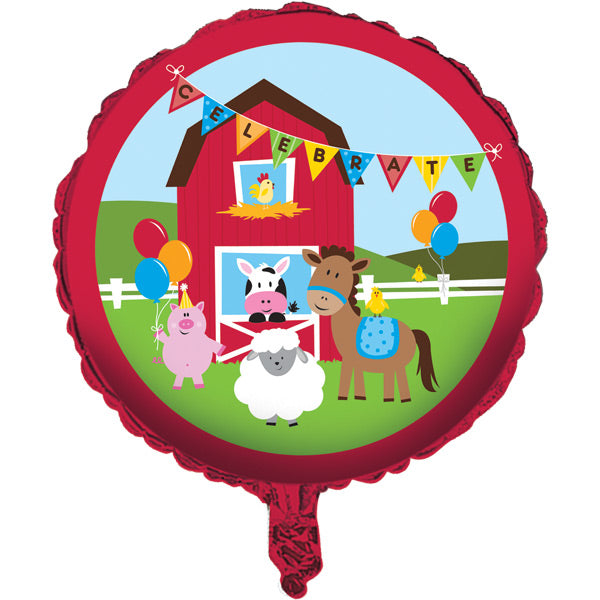 "Farmhouse Fun Metallic Balloon 18"" by Creative Converting"