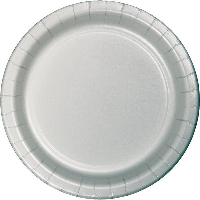 Shimmering Silver Paper Plates, 8 ct by Creative Converting