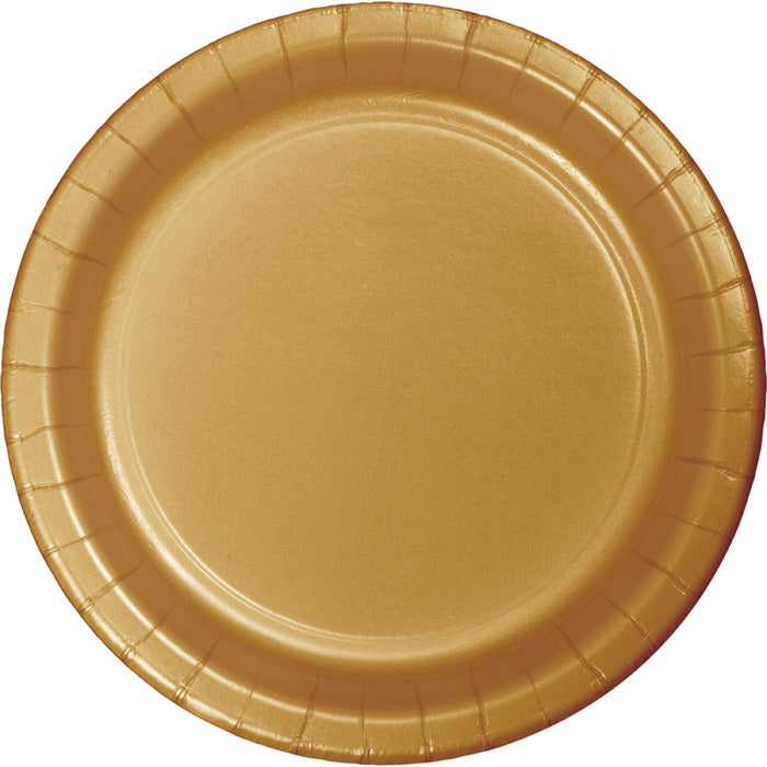 Glittering Gold Paper Plates, 8 ct by Creative Converting
