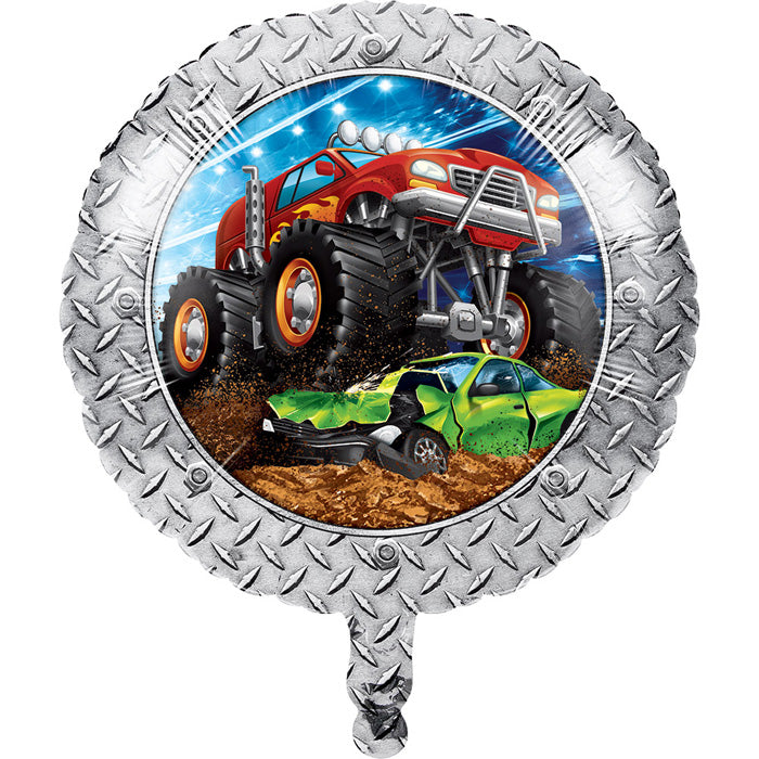 "Monster Truck Rally Metallic Balloon 18"" by Creative Converting"