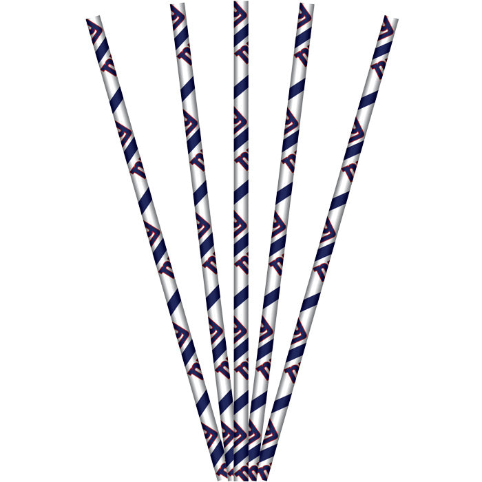 New York Giants Paper Straws, 24 ct by Creative Converting