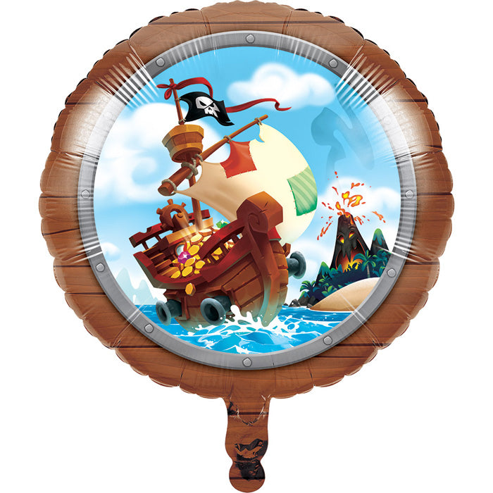 "Pirate Treasure Metallic Balloon 18"" by Creative Converting"