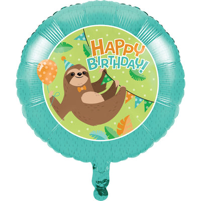 Sloth Party Mylar Balloon by Creative Converting