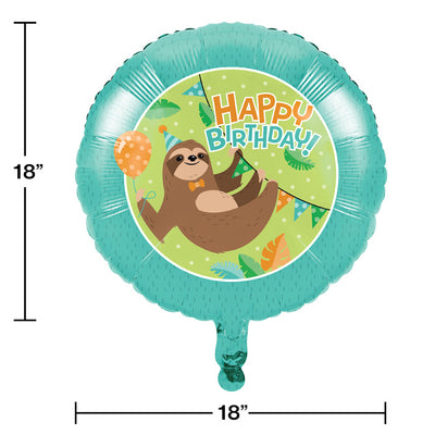 Sloth Party Mylar Balloon Party Decoration
