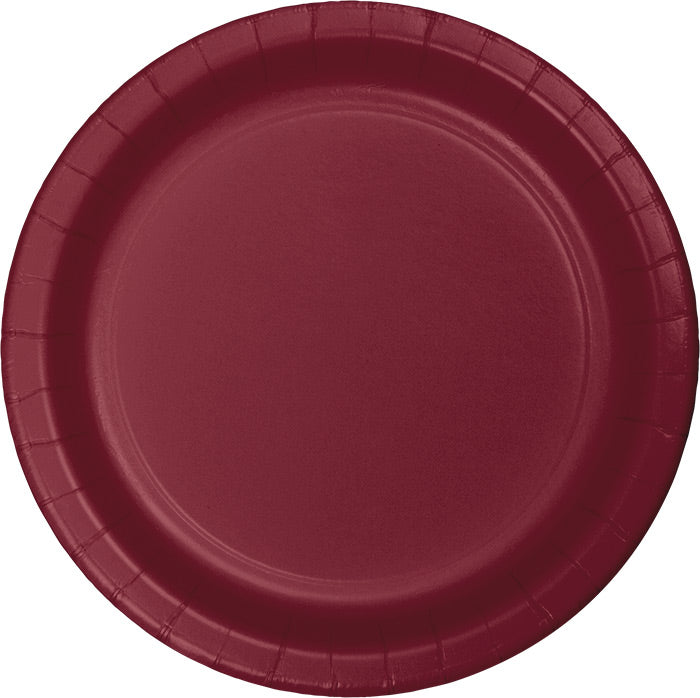 Burgundy Red Paper Plates, 24 ct by Creative Converting